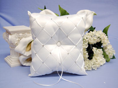 Ring Bearer Pillow White ( 7 x 7 Inch ) -