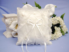 Ring Bearer Pillow Ivory ( 7 x 7 Inch )