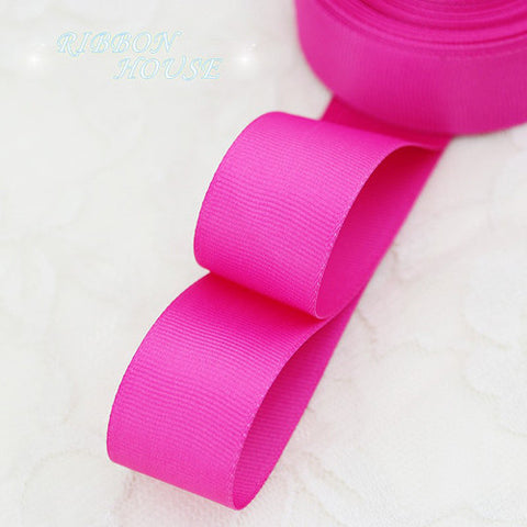 1 Inch (25mm) Grosgrain Ribbon Solid Color - 5 Yards - MY DIY Fabric