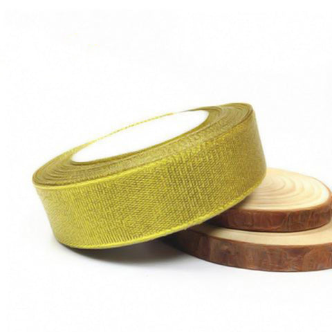 25 Yards Gold Satin Ribbon Double Face