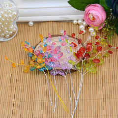 Water Drop Artificial Acrylic Flower Branches - 10 Pcs