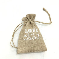 5 pieces Vintage Burlap Jute Party Favor/Gift Bags