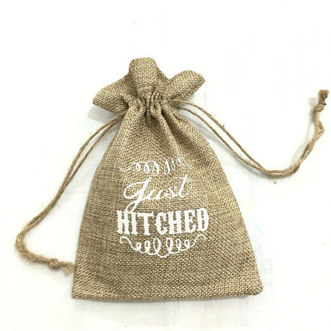 5 pieces Vintage Burlap Jute Party Favor/Gift Bags - MY DIY Fabric