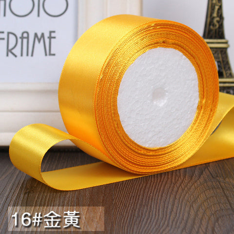 3/4 Inch & 25 Yards - Single Face Silk Satin Ribbon - MY DIY Fabric