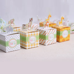 10 Pcs Animal Zoo Party Favor Boxes