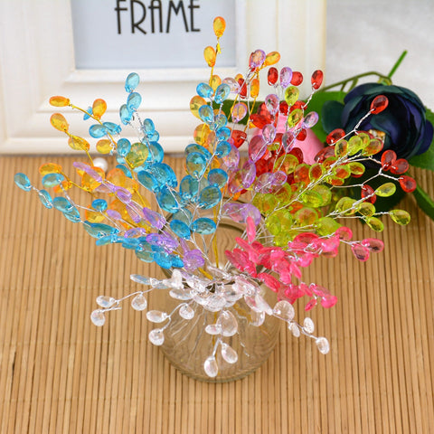 Water Drop Artificial Acrylic Flower Branches - 10 Pcs - MY DIY Fabric