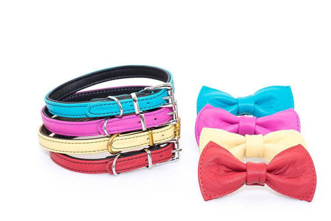 Quad Layered Collars With Bow