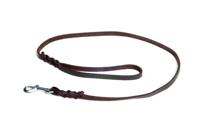 PRAGUE - Braided Rounded Edges Leather Lead Chrome Accessories