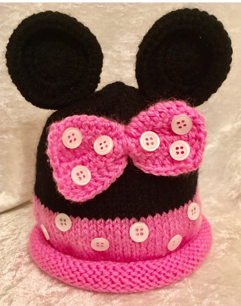 HAT - PINK MOUSE
