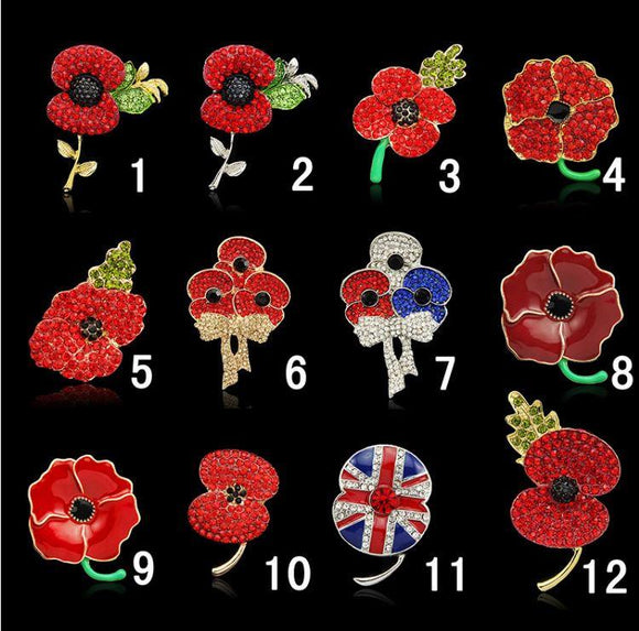 Brooch - Lest We Forget Poppy Brooch