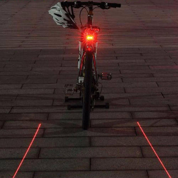 Cycling Lights - Parallel Laser 5 LED Cycling Safety Tailight