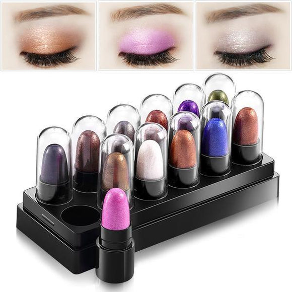 Eye Shadow - X12 24hr Chunky Waterproof Eye-Shadow Set