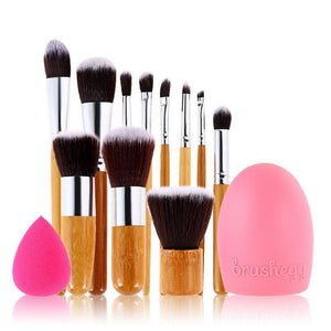 Makeup Brushes - 11 Piece Professional Teardrop Makeup Brush Set