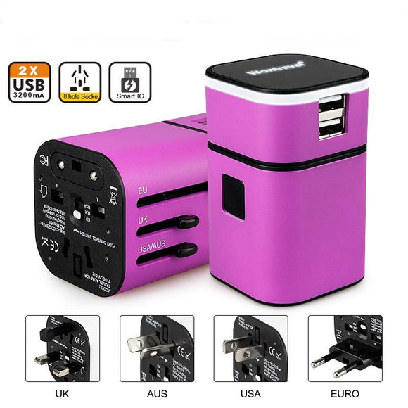Power Adapter - 150 In One Worldwide Compact Travel Adapter