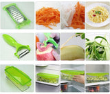 Shredders & Slicers - 12PCS Multi Chopper Vegetable & Fruit Set