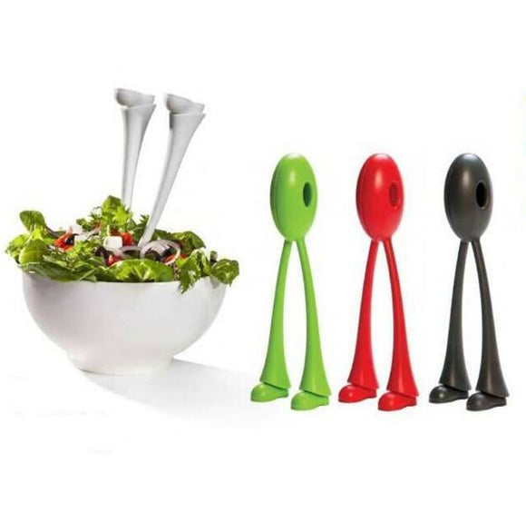 Spoons - 1 Pair Long Legged Stander Salad Spoon