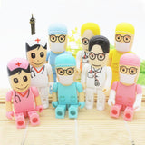 USB Flash Drives - Cute Nurse & Doctor USB 2.0 Flash Drive 8GB-64GB