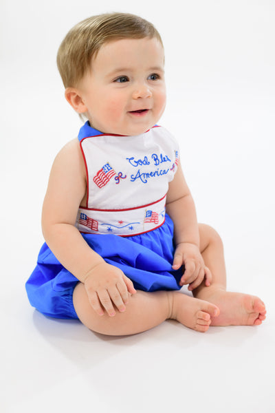God Bless America Sunsuit BOY