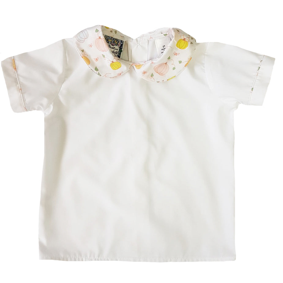 Paepke Pumpkin Peter Pan Collar Boy's Shirt