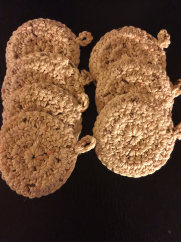 100% Cotton Face Scrubby (Crocheted)