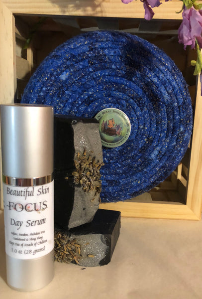FOCUS Beauty Set - Day Serum (1 ounce) and Facial Beauty Bar