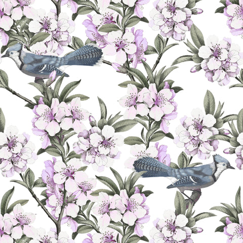 Bluejays & Blossom - Lilac