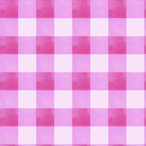 Gingham Check - Raspberry Lilac