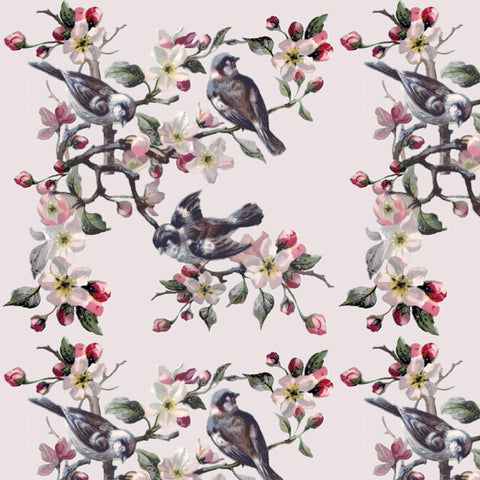 Flowers & Finches - Pink