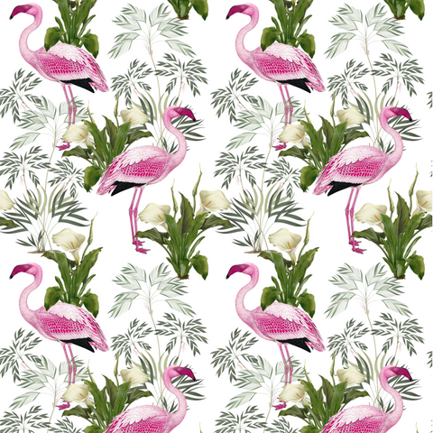 Flamingo - Pink & White
