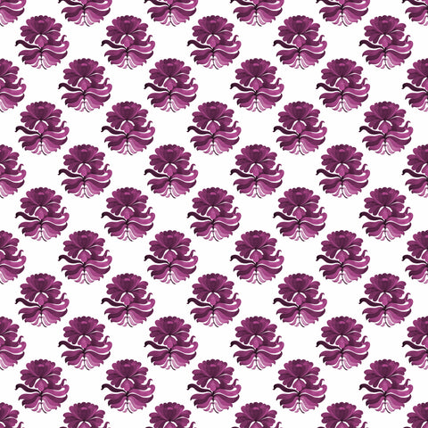 Retro Floret - Mulberry