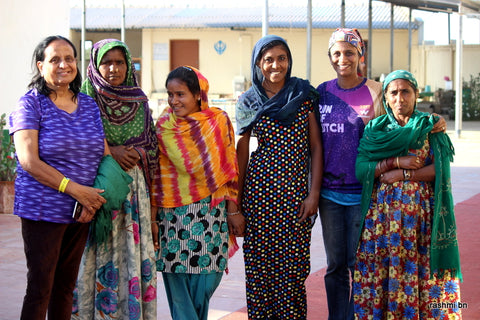 Kavitha with local Kutch women