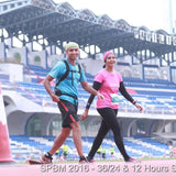 Santosh and Chandra at the Stadium Run