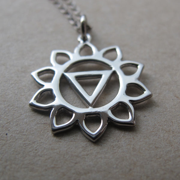 Manipura Chakra sterling silver on silver chain