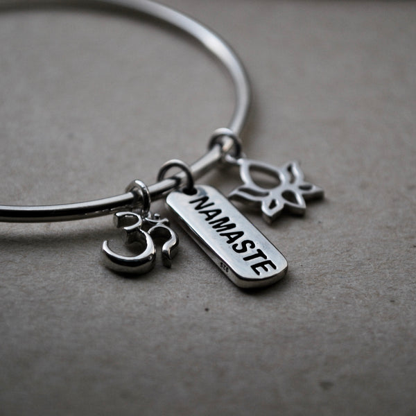 Moksha Collection: Namaste Tag Charm - SALE
