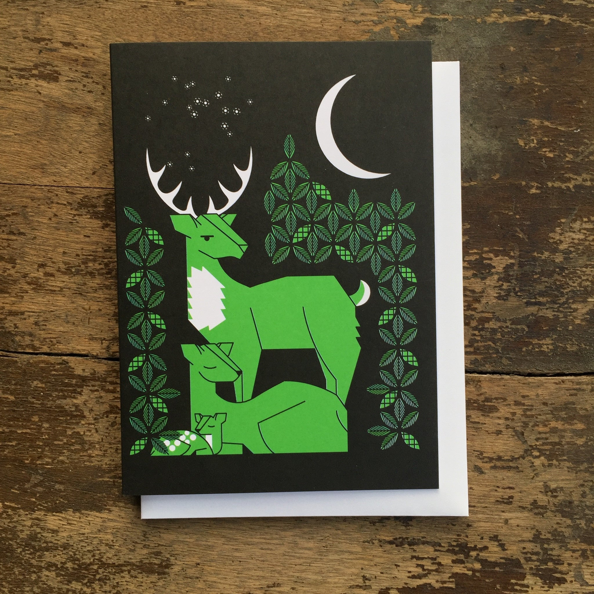 Near & Deer Card