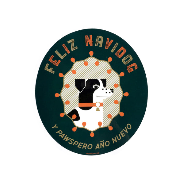 Feliz Navidog Sticker