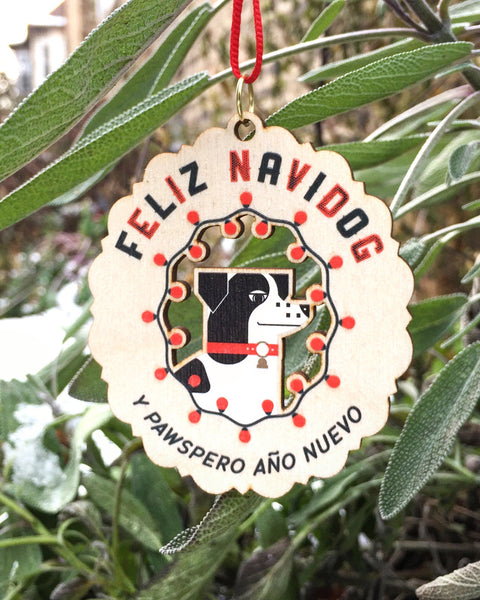 Feliz Navidog Ornament—SECONDS