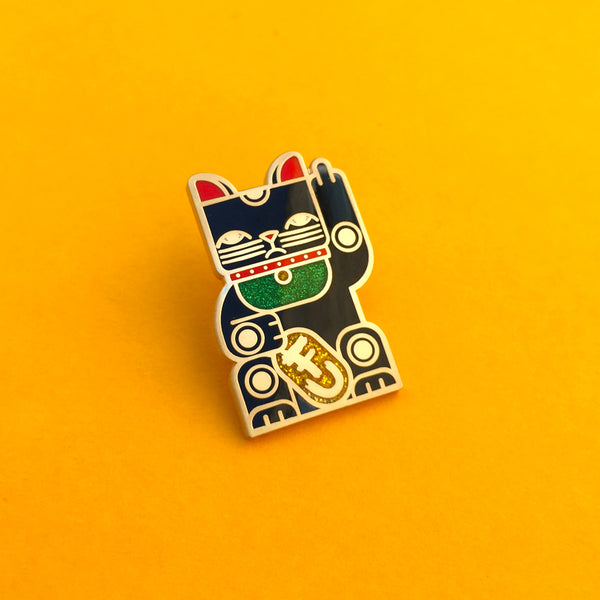Goodbye Kitty Pin Black