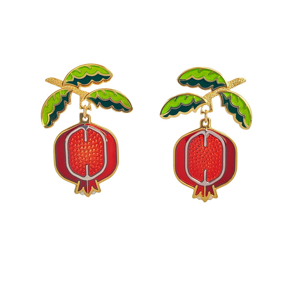 Pomegranate Earrings SECONDS