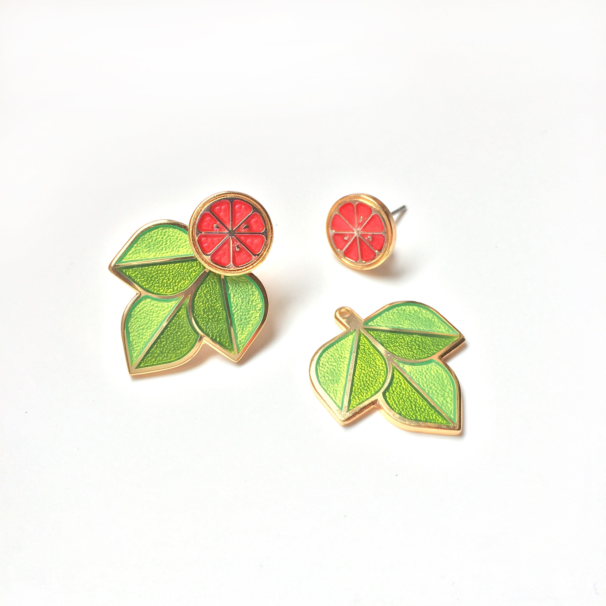 Ruby Red Jacket Earrings