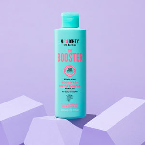 Noughty The Booster stimulating body wash for cellulite prone, dull and uneven skin on the thighs, stomach and bum. Natural body care vegan cruelty free natural sulphate free paraben free
