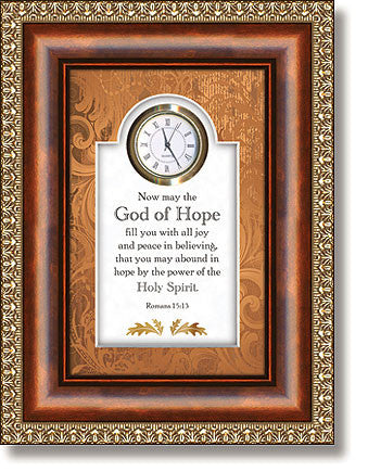 God of Hope - Romans 15:13 Clock