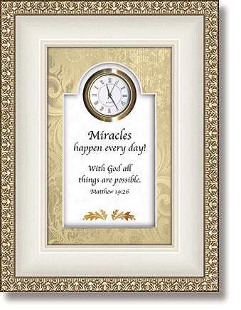 With God All Things Are Possible - Matthew 19:26 - Clock