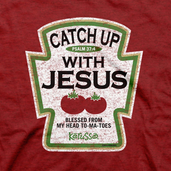 Catch up with Jesus - Psalm 37:4 - Men's Christian T-shirt