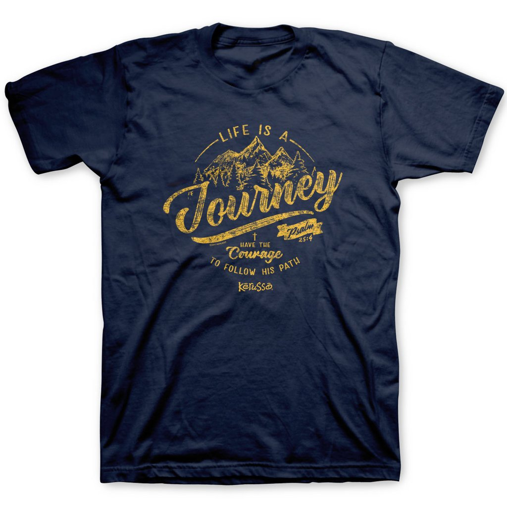 Life is a Journey - Psalm 25:4 - Men's Christian T-shirt