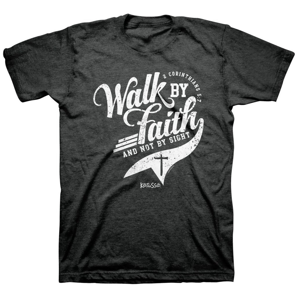 Walk by Faith - 2 Corinthians 5:7 - Men's Christian T-shirt