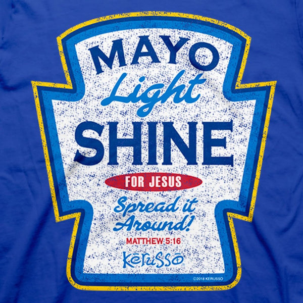 Mayo Light Shine - Matthew 5:16 - Men's Christian T-shirt