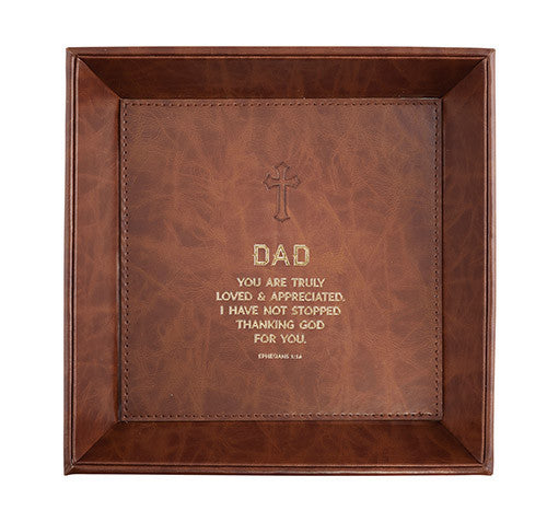 Just For Him: Dad - Ephesians 1:16 Valet Tray