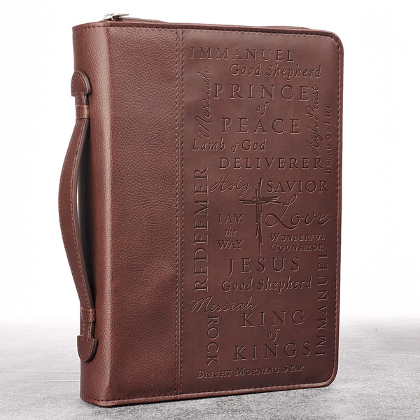 Names of Jesus Burgundy LuxLeather Bible Cover