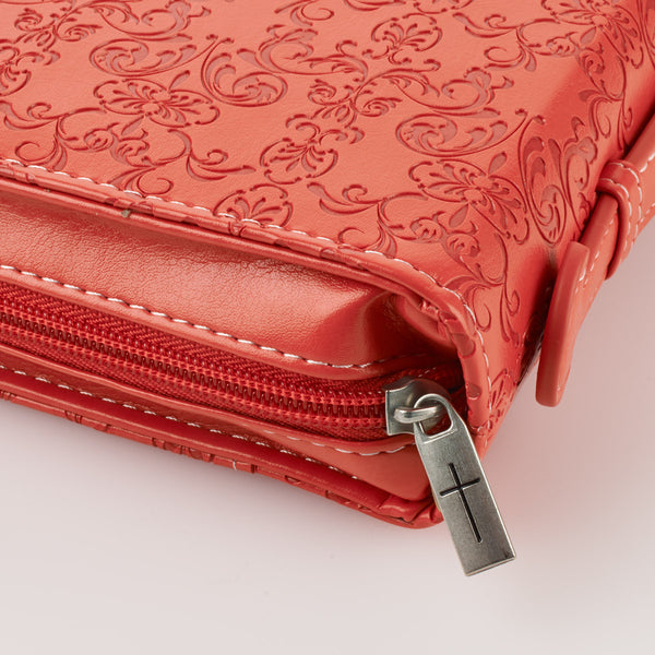 Amazing Grace Bible Cover in Coral